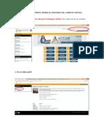 Editar Perfil Desde Campus Virtual