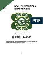 Plan Local de Seguridad Ciudadana Del Distrito Capital de Cabana
