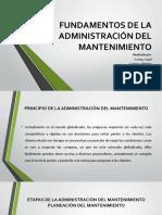 Fundamentos de La Administración Del Mantenimiento