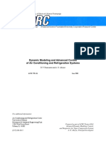 Dynamic Modelling and Advanced Control of Air Conditioning and Refrigeration Systems