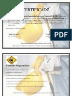 Certificado de Treinamento Nr 35 Ronaldo Pereira Fonseca