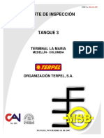 La Maria - Tanque 3 - Reporte de Inspección API 653