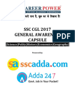 General Awareness Capsule for Ssc Cgl 2017 (Hindi)-1