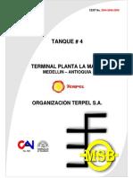 Reporte de Inspección TK-4 por API 653