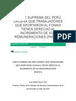 CORTE SUPREMA DEL PERÚ ORDENA QUE TRABAJADORES QUE APORTARON AL FONAVI TIENEN DERECHO AL INCREMENTO DE SUS REMUNERACIONES.docx