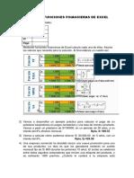 Práctica de Funciones Financieras de Excel