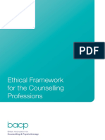 Ethical Framework for the Counselling Professions - BACP