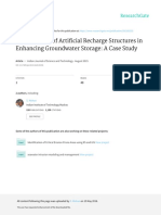 Effectiveness of Artificial Recharge Structures In