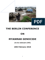 PROGRAM for Berlin Conference on Myanmar Genocide 26 Feb 2018