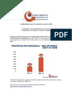 Conflictividad Social en Venezuela en Enero 2018