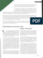 Conferencia de Juan Villegas