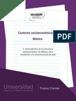 FASE 2. Antecedentes de La Estructura Socioeconómica de M Éxico (1)