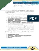 Evidencia 12 Informe de La Investigación de Cinco Buenas Prácticas en La Gestión Del Talento Humano de Una Empresa Real