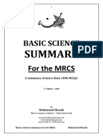 Basic Science Summary for the MRCS