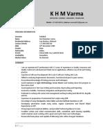 Test Analyst CV
