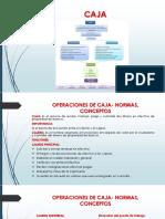 Operaciones de Caja- Normas, Conceptos
