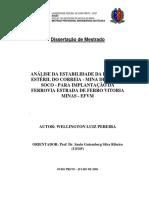 Análise de Estabilidade da Pilha de Estéril do Correia - EFVM