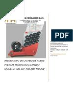 33571_instructivo de Cambio Aceite Prensa Hidraulica