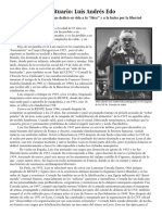 Obituario -Luis Andrés Edo - Activista Anarquista Que Dedicó Su Vida a La Idea y a La Lucha Por La Libertad