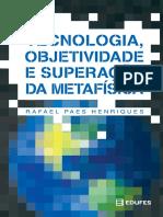 Livro Edufes Tecnologia Objetividade e Superação Da Metafísica