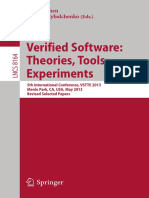 (Lecture Notes in Computer Science 8164 Programming and Software Engineering) Philipp Rümmer, Hossein Hojjat (Auth.), Ernie Cohen, Andrey Rybalchenko (Eds.)-Verified Software_ Theories, Tools, Experim