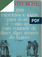 200 Jogos Para Atores e Nao Atores Augusto Boal