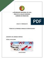 Resumen de Hematología Unidad i Sexto Ciclo Paralelo b Corregido