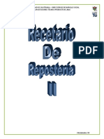 Recetario Reposteria II 2,016