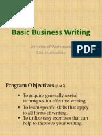 Basic Business Writing 1
