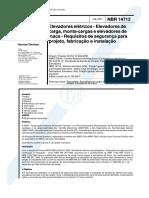 DocGo.net-NBR 14712 - Elevadores Eletricos - Elevadores de Carga Monta-cargas e Elevadores de Maca