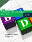 Performanca e Buxhetit Shqiptar, 1996 - 2016