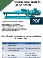 Bombas de Parafuso Simples e Um Só Rotor1