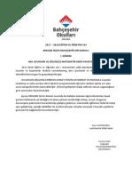 Mekatronik Dersi Faaliyet Raporu 2017-2018 I. DÖNEM