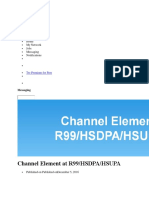 Channel Element at R99 HSDPA HSUPA