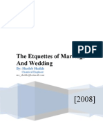 Etiquettes of Merriage n Wedding www.QuranWaHadith.com