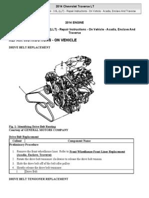traverse engine diagram serpentine belt replacement etc chevy traverse 2008 2016 belt  serpentine belt replacement etc chevy