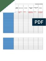 Planilla Registro de Presas