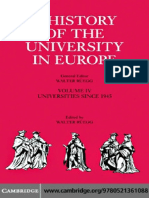 A History of the University in Europe Volume 4