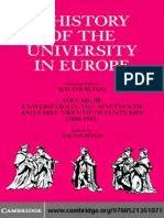 A History of the University in Europe Volume 3