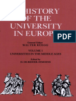 A History of the University in Europe Volume 1