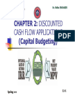 Chap2. (Students) Discounted CF Applications (Capital Budgeting) (1)