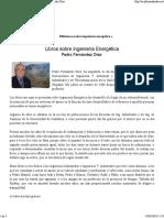Libros Sobre Ingeniería Energética de Pedro Fernández Díez