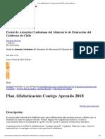 Plan Alfabetización Contigo Aprendo 2018 _ Ayuda Mineduc