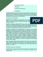 Proceso Judicial de Alimentos en Perú