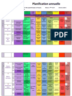 Planification Annuelle 5ème AEP en Couleur