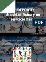 Leopoldo Lares Sultán - El deporte, actividad física y no ejercicio físico