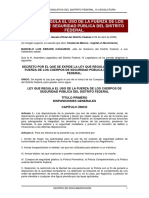 Ley Que Regula El Uso de La Fuerza Policial Df