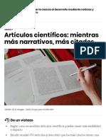 Artículos Científicos_ Mientras Más Narrativos, Más Citados - SciDev