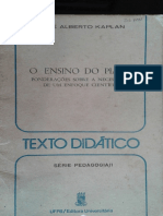 J a Kaplan O Ensino Do Piano 1977