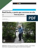 Raúl Zurita, o poeta que escreveu no céu e jogou amônia nos próprios olhos - 12_01_2018 - Ilustríssima - Folha de S